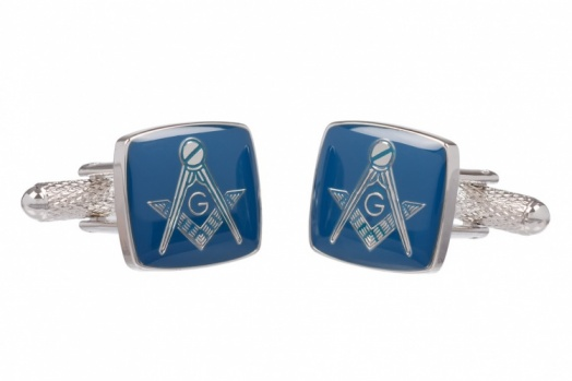 Masonic Blue Square & Compass G Cufflinks